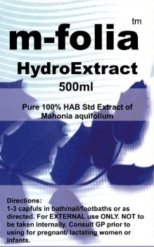 m-folia hydro extract for psoriasis